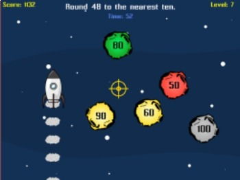 Astro Blaster - Estimating & Rounding Numbers (Playable at RoomRecess.com)