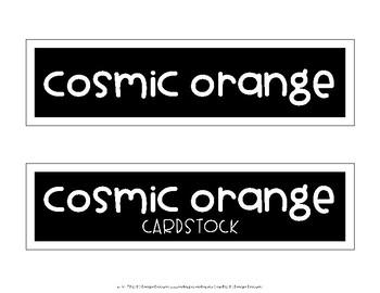 Astrobrights Labels FREEBIE