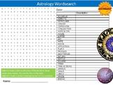 Astrology Wordsearch Sheet Starter Activity Keywords Cover Beliefs RE Religion