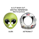 Astronaut & Alien Masks for Sci Fi Readers Theater. Kid Astronaut Prop, Mask