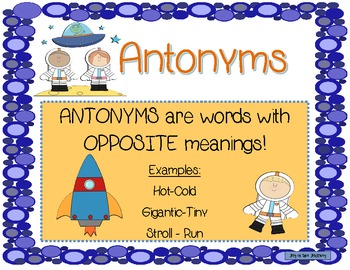 Astronaut Antonyms Activities