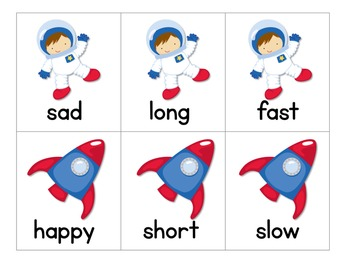 Astronaut Antonyms & Space Creature Synonyms:  Antonym & Synonym Activities