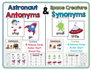 Astronaut Antonyms & Space Creature Synonyms:  Antonym & S