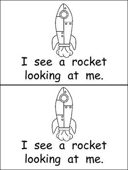 Astronaut, Astronaut, What Do You See Emergent Reader for Kindergarten- Space