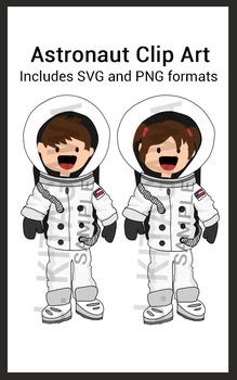 Astronaut Clip Art (Boy & Girl)