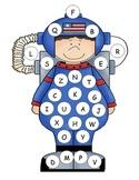 Astronaut Capital Alphabet Mat