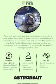 Astronaut Career Information Sheet
