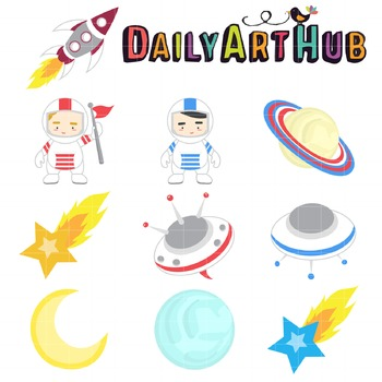 Astronaut Clip Art - Great for Art Class Projects!