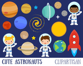 Astronaut Clip Art, Space,  Planets, Solar System