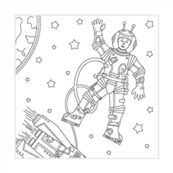 Astronaut Coloring Page, Commercial Use Allowed