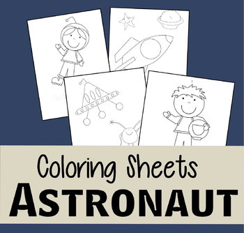 Astronaut Coloring Sheets