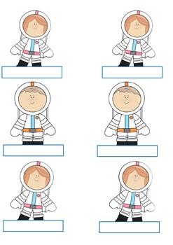 Astronaut Display Labels