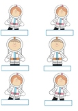 Astronaut Display Labels