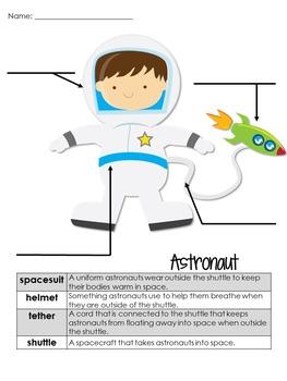 Astronaut Nonfiction Informational Text Freebie
