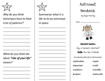Astronaut Handbook Trifold - Wonders 2nd Grade Unit 6 Week 3