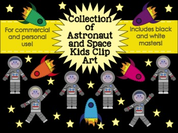Astronaut Kids Clipart Collection for Commercial and Personal Use