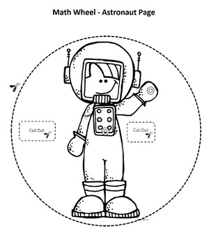 Astronaut Math Wheel (Common Core)