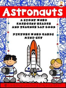Astronaut Picture Cards and Sight Word Emergent Reader Mega Bundle