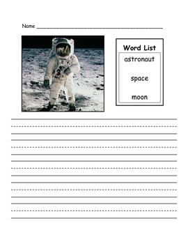 Astronaut Picture Prompt Writing