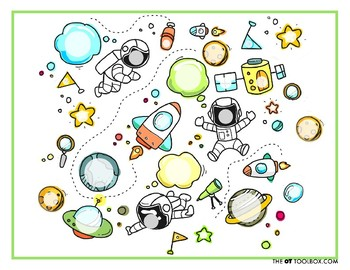 Astronaut Play Dough Mat (FREE)