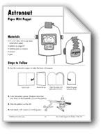 Astronaut, Robot, and Alien Paper Mitt Puppets