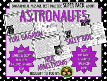 Astronaut SUPER Pack-Biographical Passage Practice