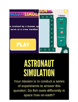 Astronaut Simulation: experiments in space