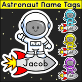 Astronaut Theme Name Tags - Outer Space Classroom Decor
