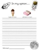 Astronaut Ice Cream Writing
