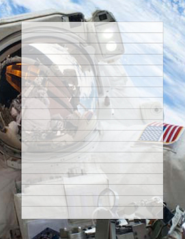 Astronaut Writing Template