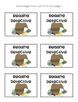 Reading Detective Badges