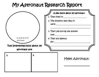 Astronaut report