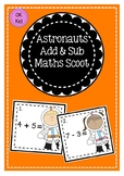 Astronauts Addition and Subtraction Maths Scoot