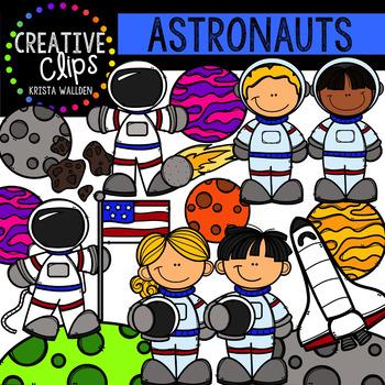 Astronauts: Space Clipart {Creative Clips Clipart}