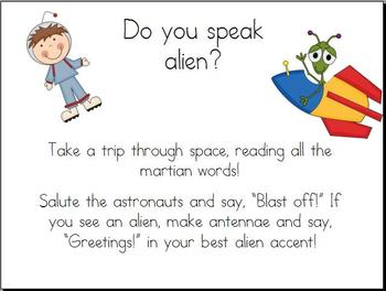 Astronauts and Aliens 2- DIBELS/mClass Nonsense Words
