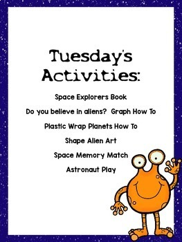 Preschool Thematic Unit {Space}