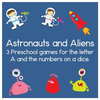 Astronauts and Aliens Preschool games for the letter A