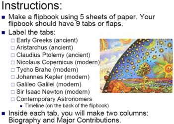 Astronomer Flipbook PowerPoint & Quiz