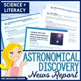 Astronomical Discovery News Report | Research, Writing, Literacy for Astronomy