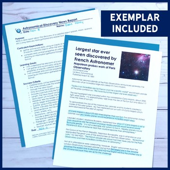 Astronomical Discovery News Report   Research, Writing, Literacy for Astronomy