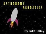 Astronomy Acrostic Poems