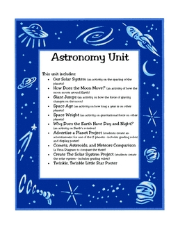 Astronomy Activities and Projects Unit
