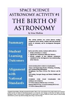 Astronomy Activity #1 The Birth of Astronomy