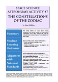 Astronomy Activity #7 The Constellations of the Zoldiac