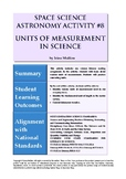 Astronomy Activity #8 Units of Measurement in Science