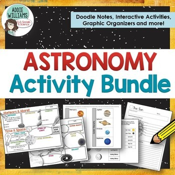 Astronomy / Solar System - Graphic Organizers, Interactive
