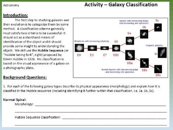 Astronomy Activity: Galaxy Classification