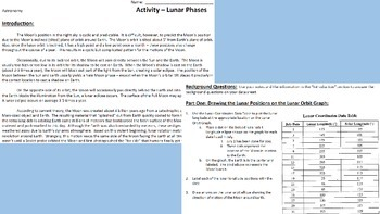 """Astronomy Activity - """"Lunar Phases"""""""