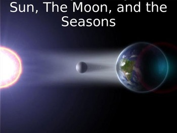 "Astronomy Activity - ""The Sun, The Moon, and the Seasons"""