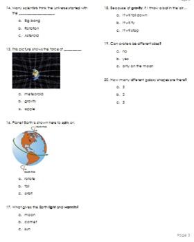 Astronomy Assessment